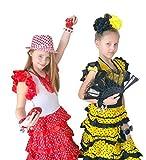 La Señorita Castañuelas Flamenco rojo puntos blanco