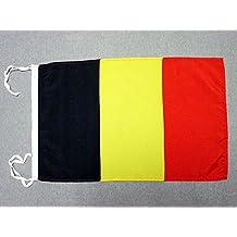 AZ FLAG Bandera de BÉLGICA 45x30cm - BANDERINA Belga 30 x 45 cm cordeles