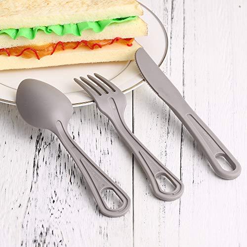 Explopur Plastikbesteck Kit - Tasche Gabel Löffel Cutter BPA frei Geschirr Set für Home Küche Camping Picknick Wandern Reisen Besteck Set