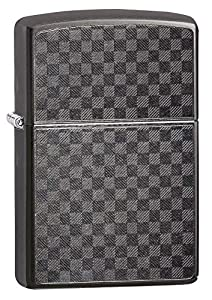 Zippo Briquet Unisexe Iced Fibre de Carbone Coupe-Vent, Gris, Regular