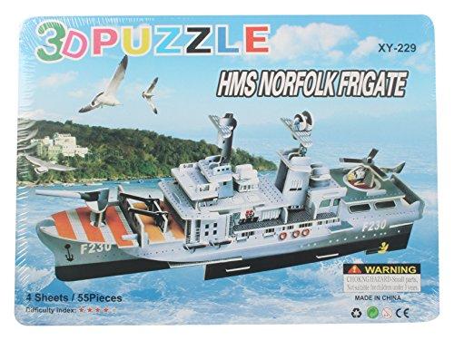 AdYo HMS Norfolk Frigate 3D Puzzle