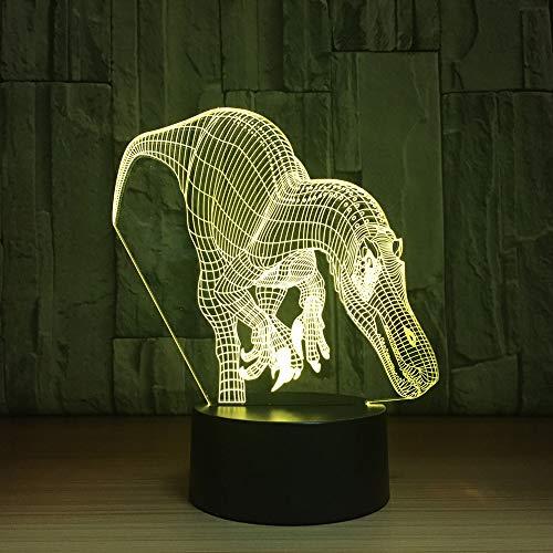 Geschenk für Kinder neue Dinosaurier 3d Nachtlicht buntes Geschenk Schlafzimmer Lampe LED-Licht führte Nachtlicht Auge Muster ## 9 (Illusion Wand-kalender)