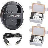 Newmowa Double USB Chargeur + 2 Batterie DMW-BLF19 pour Panasonic DMW-BLF19 DMW-BLF19E et Panasonic DMC-GH3 DMC-GH3A DMC-GH3H DMC-GH4 DMC-GH4H