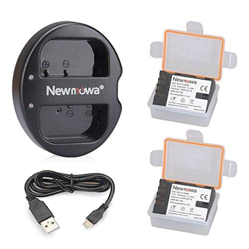 Newmowa DMW-BLF19 DMW-BLF19E Batería de Repuesto (2-Pack) y Kit de Cargador Doble para Micro USB portátil para Panasonic DMW-BLF19 DMW-BLF19E y Panasonic DC-GH5,DMC-GH3,DMW-GH4,DC-GH5S