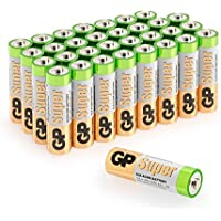 GP Batteries AA Super Alcalinas, AM3, 1.5V, LR06, 15A, Pack de 32