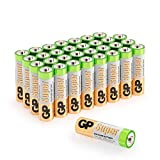 GP Batteries AA Super Alcalinas, AM3, 1.5V, LR06, 15A, Pack de 32