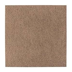Dalles de moquette feutre aiguilleté de 4 m ²-couleur: sable
