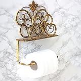 Antik Gold Toilettenpapierhalter zur Wandmontage–Perfekt für das Hinzufügen einen Hauch von Raffinesse zu das Badezimmer–26x W21x 7