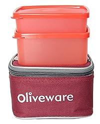 Oliveware Nano Lunch Box Red