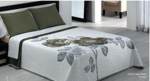 Textilonline Couvre-lit Rose Cama 150 cms. Beige