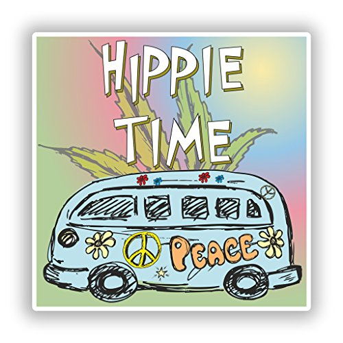 2x Pegatinas de vinilo de furgoneta hippie tiempo Viajes equipaje #