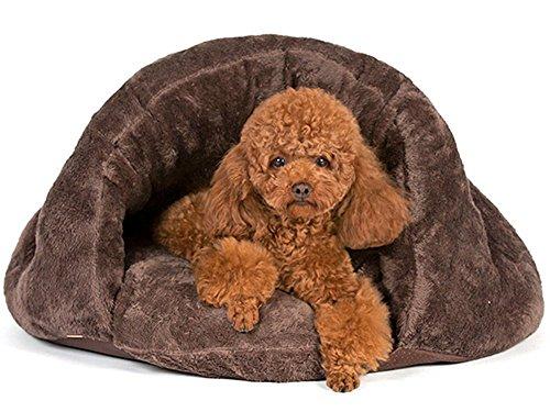 Myfei reg; Pet Cave Bed Sleeping Bag Plush Pouch Burrow Cushion Cute Dog Cat Kitten Warm Comfortable Mat Cozy House… 1