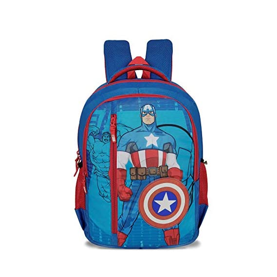 Priority Titan 051 39 L Polyester Captain America Blue TR Casual School/College Backpack Bag