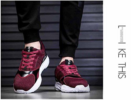 Uomini Leggero Scarpe Da Ginnastica 2018 Primavera Nuovo Allacciare Scarpe Traspirante Jogging Scarpe Appartamenti Scarpe Rosso