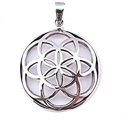 Dije Semilla de la Vida, Geometría Sagrada, Colgante Mandala en Plata Esterlina 925 (P006)