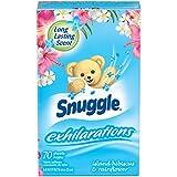 Snuggle (Kuschelweich) exhilirations (ISLAND HIBISCUS & RAINFLOWER) Weichspüler, Trocknertücher 70 Stück USA
