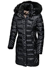 Pikeur–Abrigo de plumas para mujer con capucha desmontable Raisa Premium Colección Otoño/Invierno 2017/2018, Black, 38