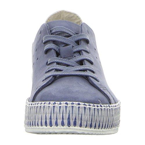 Tamaris  1-1-23714-28-822, Chaussures de ville à lacets pour femme Denim/blanc