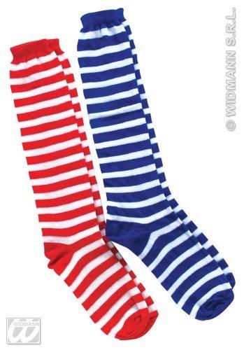 WIDMANN S.R.L., A CLOWN BLUE gestreiften (Kostüm Gestreifte Weiße Socken Und Rote)