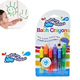 Axibo 6 Pack Children Safety Brush Bath Crayons Non Toxic Education Fun Toy Easy Washable Wipe Clean Develop Creativity And Imagination Ages 3 Years +