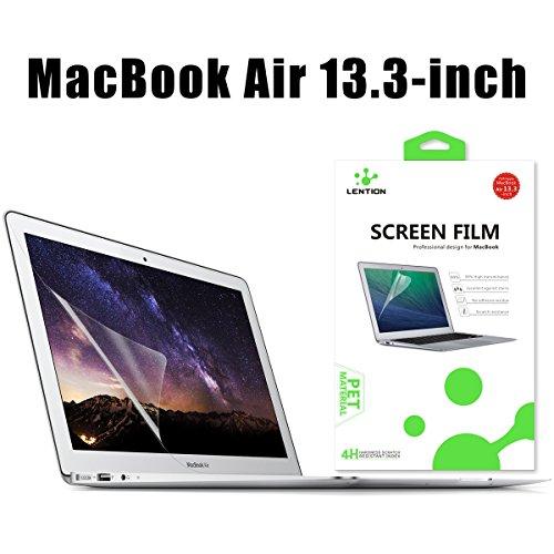 """LENTION Antikratzerverstärkter Displayschutzfolie für MacBook Air (13"""", Mitte 2009 bis 2017) Modell-A1369 / A1466, HD Displayschutzfolie für Apple Laptop, 4H Härte, Einfach Anzubringen"""