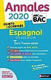 Annales ABC du Bac 2020 Espagnol Term L-ES-S