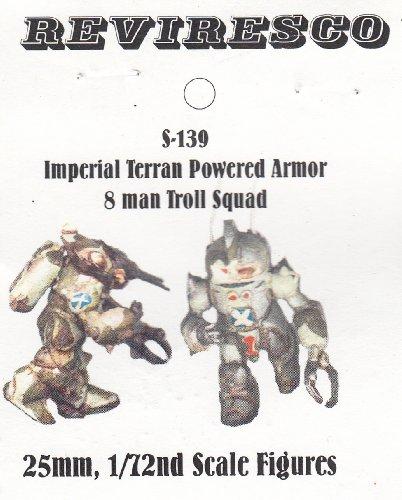 Reviresco S-139 - Starguard Terran Marines - Powered Armour Troll Squad - Zinnbausatz - 1:72 -
