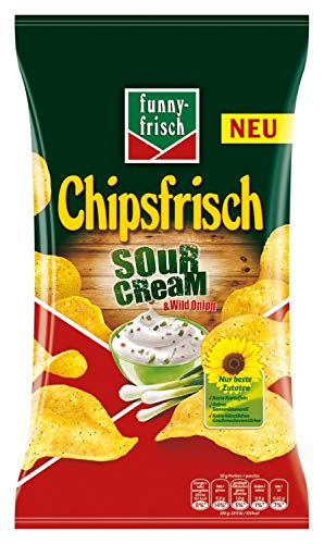 funny-frisch Chipsfrisch Sour Cream und Wild Onion 175 g, 10er Pack (10 x 175 g) (Sour Onion Cream Chips)