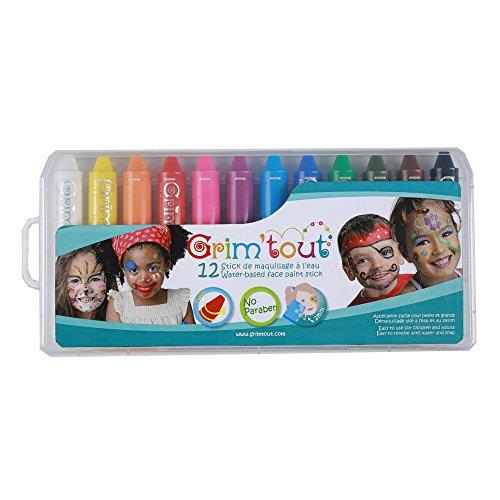 Box Crayon Kostüm - GRIM'TOUT - Gt41883-Box mit 12Schmink-Stiften
