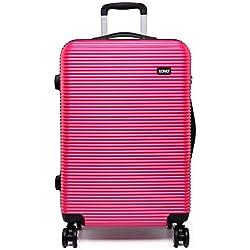 """Kono Juego de maletas morado 20"""" maleta de equipaje de mano de la cabina (20"""" Rosa)"""