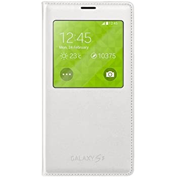 Samsung S-View Case Cover for Galaxy S5 - White