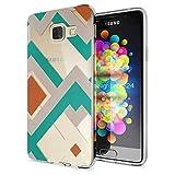 NALIA Handyhülle für Samsung Galaxy A3 2016, Slim Silikon Motiv Case Hülle Cover Crystal Schutzhülle Dünn Durchsichtig Etui Handy-Tasche Backcover Transparent Phone Bumper, Designs:Retro Lines