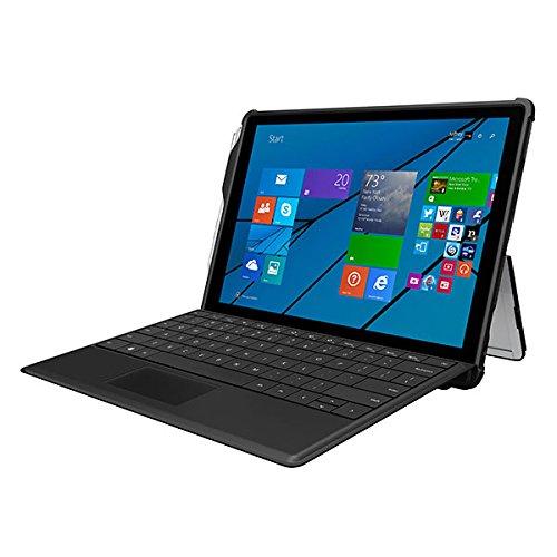Incipio Asher vertikale Tasche für Microsoft Surface 3 - von Microsoft zertifizierte 2-farbige Nylon-Schutztasche inkl. Außentasche - schwarz/rot schwarz