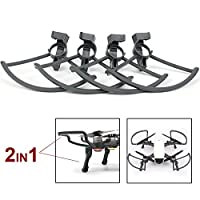 Flycoo 2 in 1 Kits for DJI Spark Propellers Guards & Landing Gear - Foldable Quick Release Anti-shock Accessories 4 Pieces / Set from Flycoo