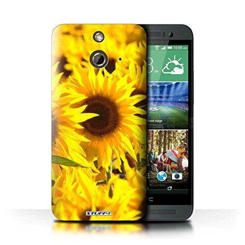 Kobalt® Imprimé Etui / Coque pour HTC One/1 E8 / Fleur jaune conception / Série floral Fleurs Tournesols