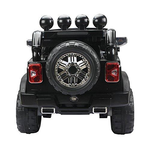 RC Auto kaufen Kinderauto Bild 4: HOMCOM Elektroauto Kinderauto Kinderfahrzeug Kinder Elektro Auto Fahrzeug Spielzeug (Jeep/schwarz)*