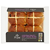 Morrisons The Best Extra Fruity Hot Cross Buns, 4 Pack