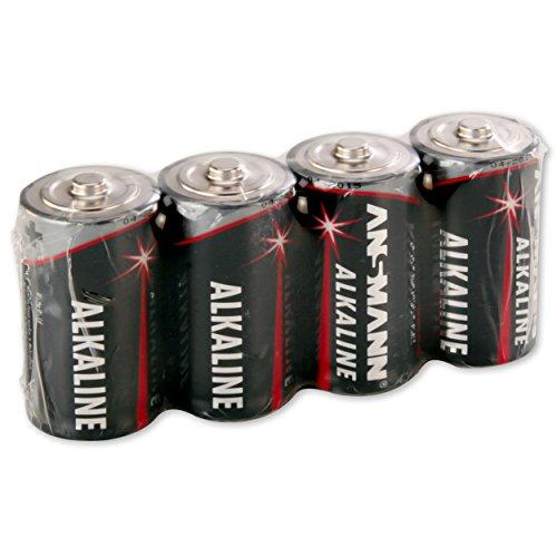 ANSMANN Red Alkaline Batterie Baby C LR14 Longlife Alkalibatterie (4er Shrink)
