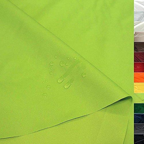 TOLKO Sonnenschutz Nylon Planen-Stoff Meterware - 180 cm Breit, Wasserdicht, Reißfest und Blickdicht als Universal Outdoorstoff zum Nähen (Apfel-Grün)