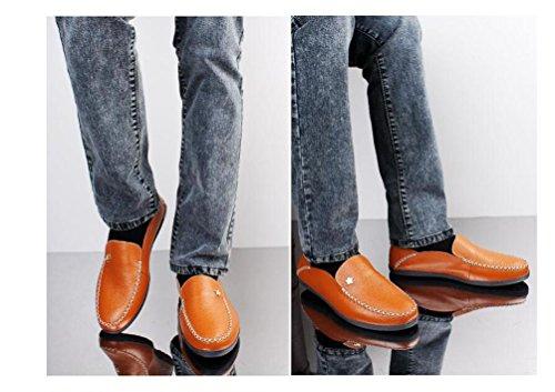 Loafers Slip-ons Low Top Anti-Rutsch Mode Bequeme Soft Soles Casual Herrenschuhe EU Größe 37-45 red brown