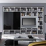Wohnwand TV-Kombination TOLEO238 Hochglanz weiß