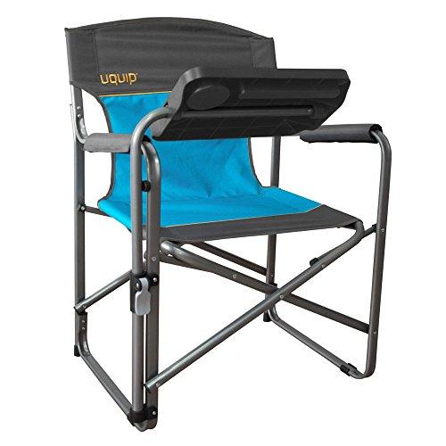 Design Regiestuhl | inklusive verstellbarem Tisch mit Becherhalter + Tablethalter | ideal für Freelancer | Uquip Woody 244012