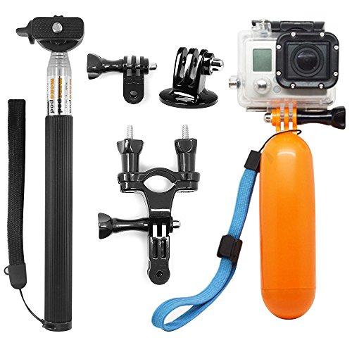 AFUNTA 3 in 1 Macchina Fotografica di Sport Kit Accessori Bundle per GoPro Hero 4/5 Session Hero5 Black/Silver, Hero 1/2/3/3+/4/5, e HD Hero Telecamere Originale1 SJ4000 SJ5000 SJ6000 xiaomi yi Sports Camera - Rod Del Fascio