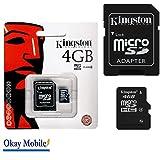 Original Kingston MicroSD Tarjeta De Memoria 4GB para Huawei Ascend G7–4GB