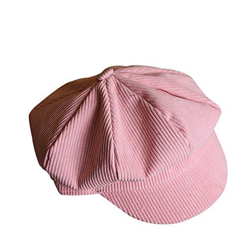 hling und Herbst Stripes Anis Berets Maler Hut Rosa (Maler Hüte)