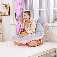 AFQHJ Pregnant woman pillow waist side sleeping pillow Crystal velvet pregnant woman pillow, multi-function pillow U-shaped pillow (135cm × 75cm × 20cm) (Color : A)