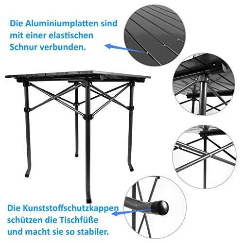 Qisiewell Table de Camping Table de Plage Pliante en Aluminium Table de Pique-Nique Portable légère compacte pour intérieur et extérieur Camping Picnic Beach Natation Randonnée BBQ