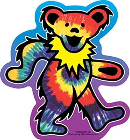 GRATEFUL DEAD Tie Dye Bear, Officially Licensed Original GDP Inc., Artwork, High Quality, 5