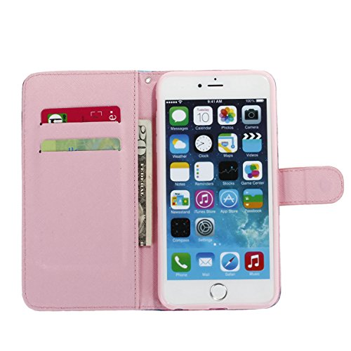 ISAKEN Custodia iPhone 6 Plus, Cover iPhone 6S Plus, Elegante borsa Custodia in Pelle Protettiva Flip Portafoglio Case Cover per Apple iPhone 6 Plus (6 5.5) / con Supporto di Stand / Carte Slot / Chi sexy girl