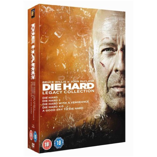 Die Hard Complete Movies 1, 2, 3, 4, 5 Film [6 Discs] DVD Collection Box set: Die Hard / Die Harder / Die Hard with a Vengeance / Die Hard 4. 0 / A Good Day to Die Hard + Extras by Bruce Willis